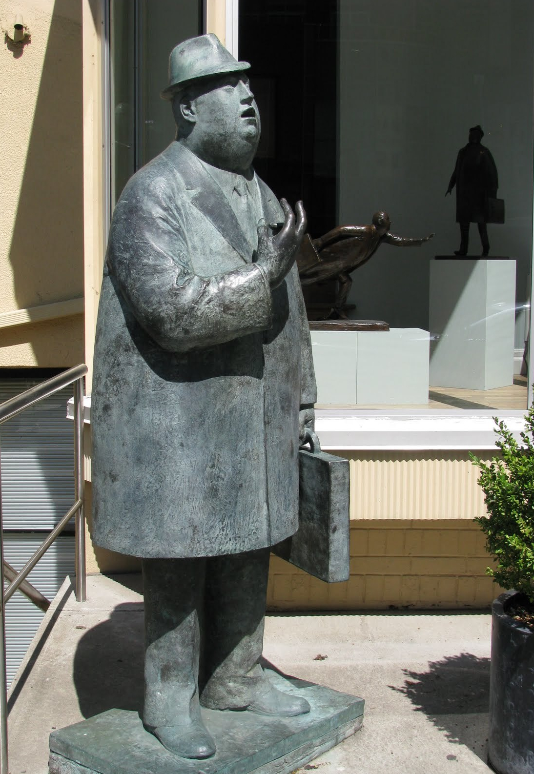 Businessman statue